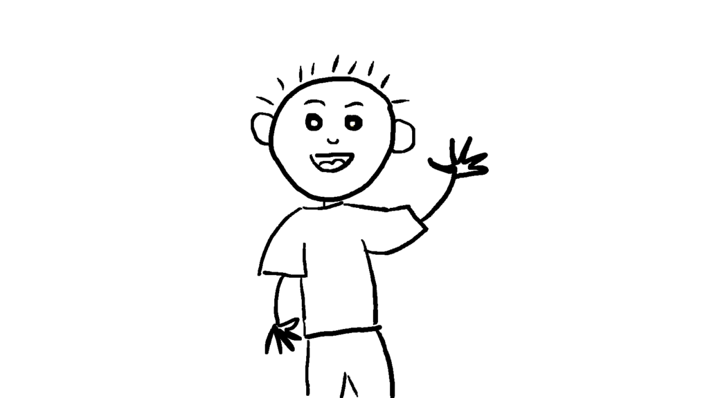 Leon-Skizze-winkt-1024x576 %Hundeblog